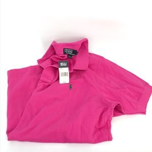 Polo Ralph Lauren Size Large Men's Pink Green Tee